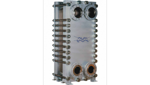 Welded plate-and-frame heat exchangers