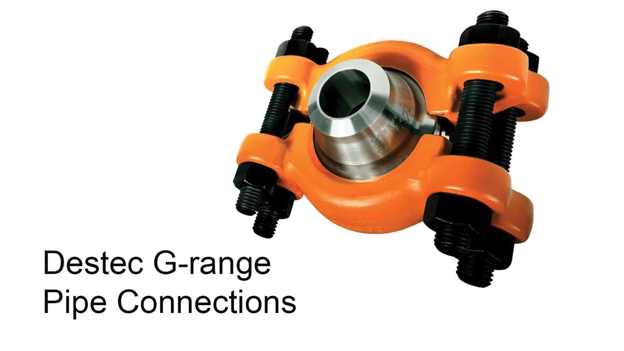 Destec G-range Pipe Connections