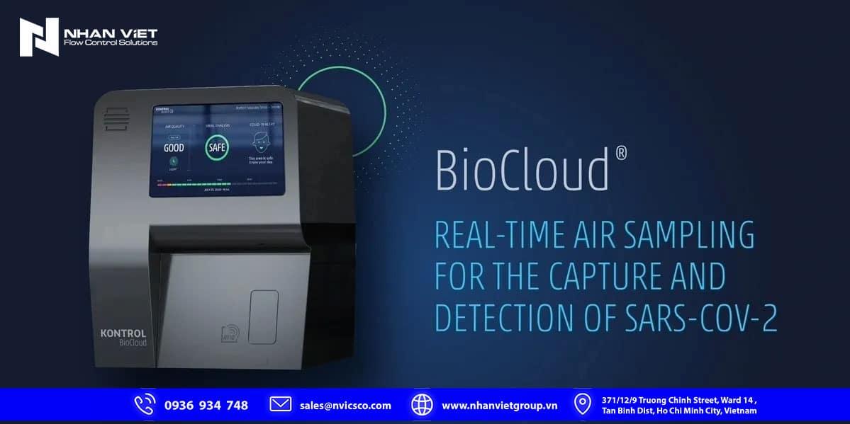 BioCloud Thiết bị giám sát liên tục không khí trong phòng Phát hiện Covid-19