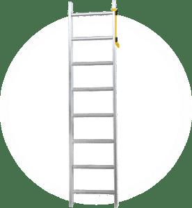 Aluminum ladder side